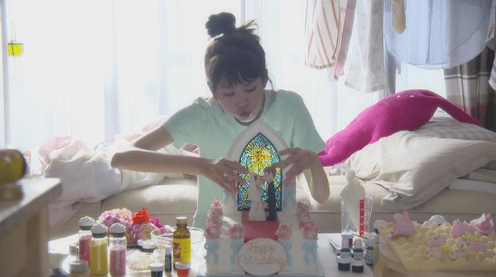 キス顔ケーキ