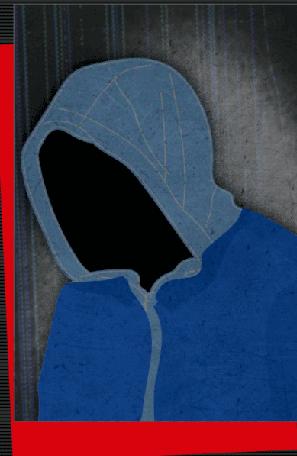 青いコートの男