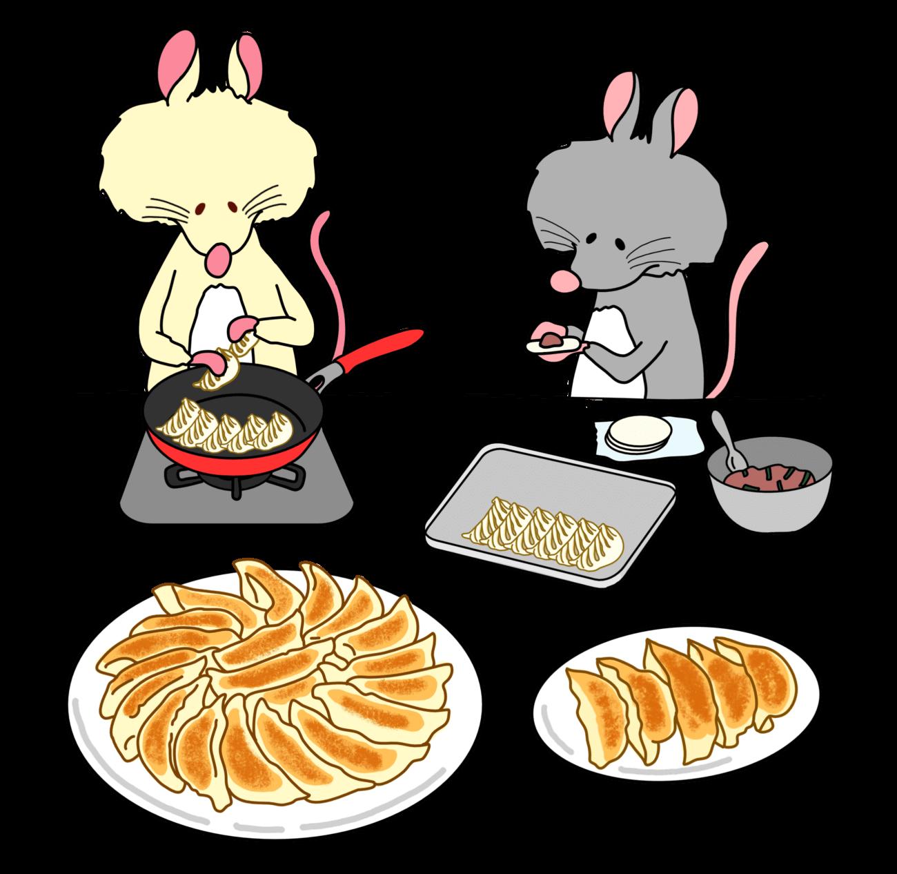 餃子パーティ